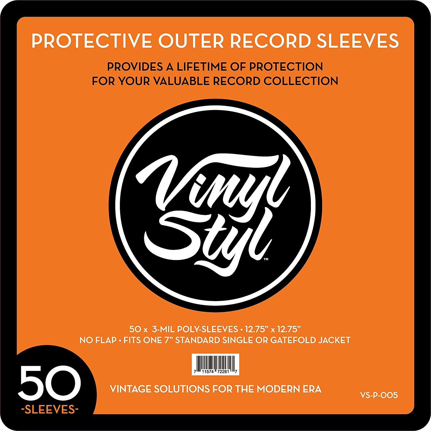 """Vinyl Styl - 12.75"""" X 12.75"""" 3 Mil Protective Outer Record Sleeve (QTY: 50)"""