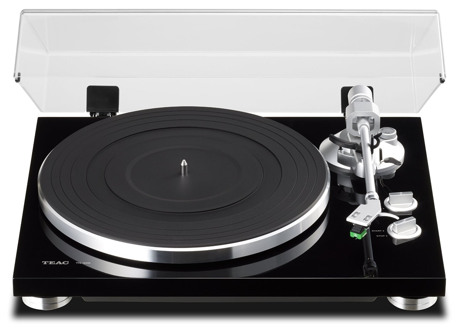 TEAC TN-300-B Belt-Drive Analog Turntable (Black)