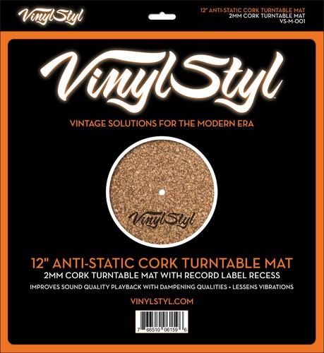 "Vinyl Styl™ 12"" Anti-Static Cork Turntable Mat"
